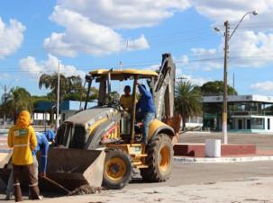 Serviço de limpeza é  intensificado no Parque Antônio Lisboa da Cruz para a 44ª Expo Gurupi