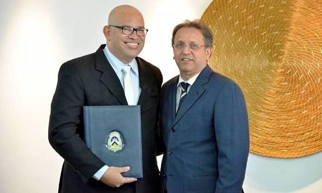 O governador Marcelo Miranda, deu posse ao jornalista e produtor cultural Melck Aquino como secretário de Estado da Cultura - Carlos Magno/Secom