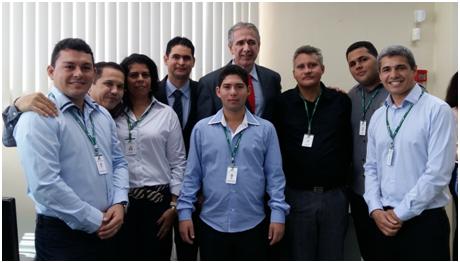 Equipe da Agência com o Superintendente