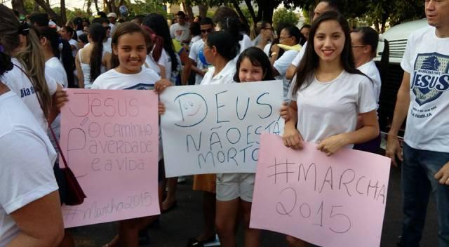 A presença de grande número de jovens chamou a atenção ao avento. (Foto Divulgação dos organizadores)