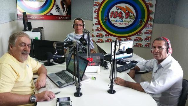 Os jornalsitas Zé Manoel, WPresley e Jonair Rocha.