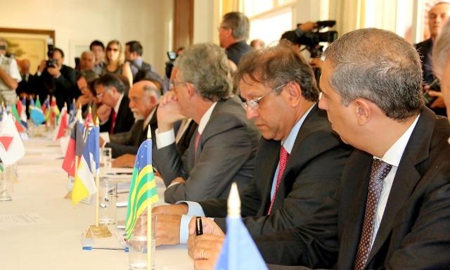 A prorrogação dos prazos para pagamento de precatórios de cinco para dez anos também esteve entre os assuntos discutidos - Pedro Barbosa / Governo do Tocantins