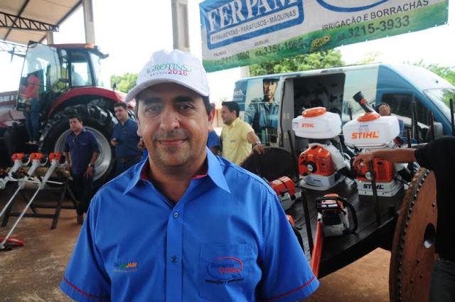 Para Ivan Ricardo Naves, proprietário das empresas Ferpam e Borrachas Confiança, a Agrotins é um divisor de águas nas suas empresas