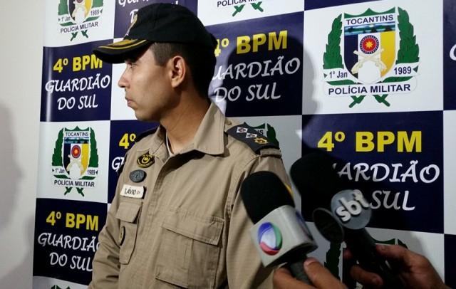 """""""Ao chegarem no ponto os policiais foram recebidos com disparos de arma de fogo"""", Major Flávio."""