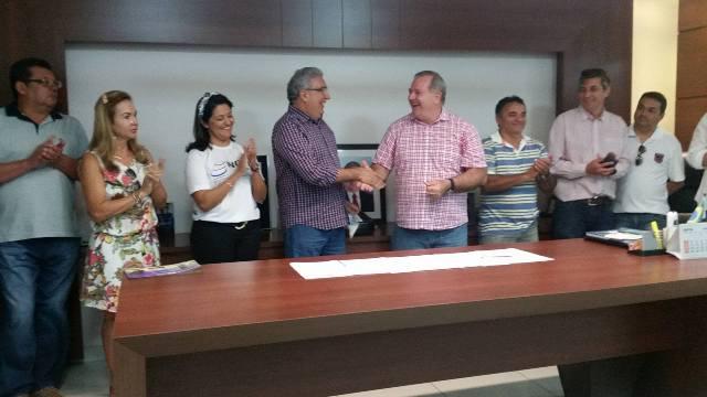 """para a incubadora da Unirg estamos viabilizando uma área onde era o Sindicato Rural de Gurupi"""", disse Laurez Moreira."""