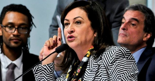 Senadora criticou políticos que faziam parte do governo e hoje apoiam o impedimento. Foto: Geraldo Magela/Agência Senado