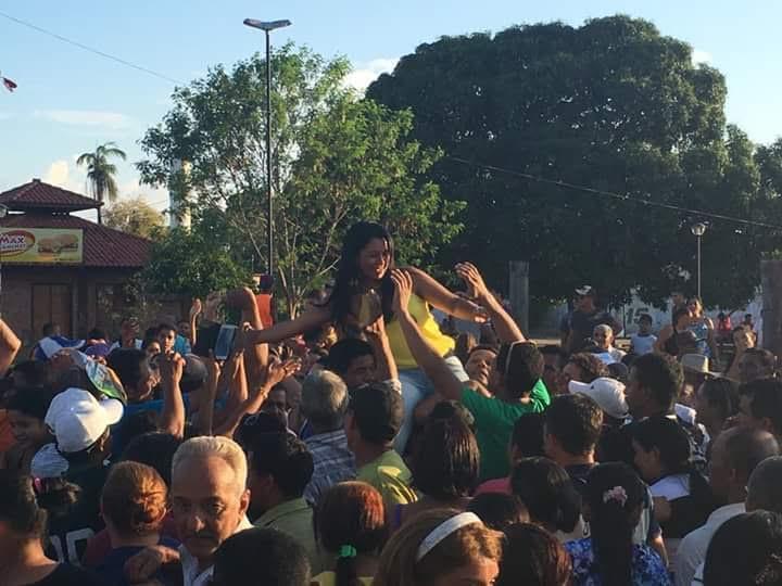 Caseara Ildislene Santana fala da vitória em Caseara TO