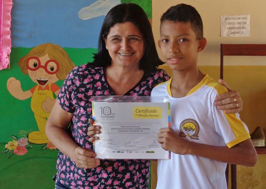 Geazi, de Colinas é medalha de ouro na Obmep
