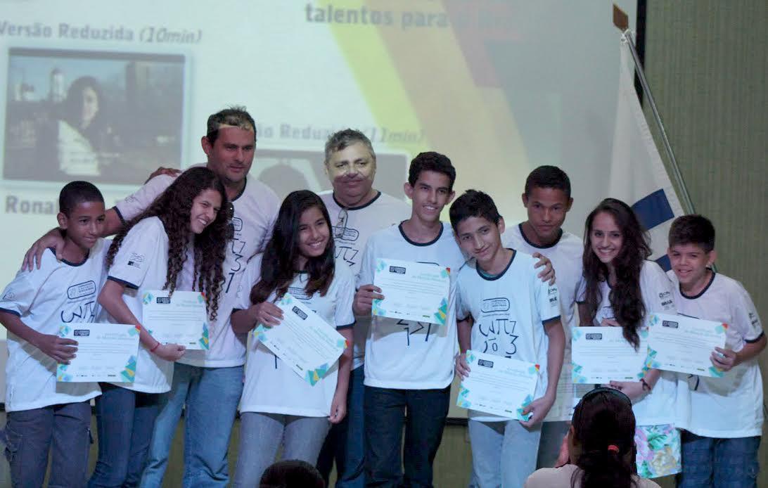 Paulo Cleber, coordenador da Obmep na premiação dos estudantes