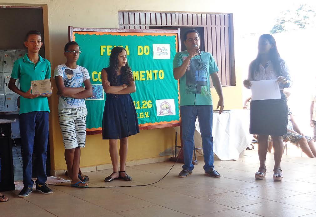Geazi, de Colinas é destaque nas atividades realizada na escola onde estuda.