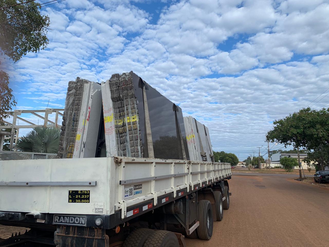 reg Novos materiais chegam para a construção do Hospital Geral de Gurupi