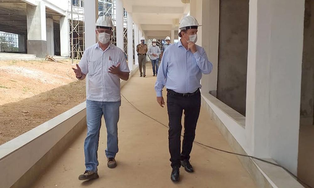 Hospital-Geral-de-Gurupi-Carlesse Carlesse pede mais agilidade para a entrega da primeira etapa da obra do Hospital Geral de Gurupi