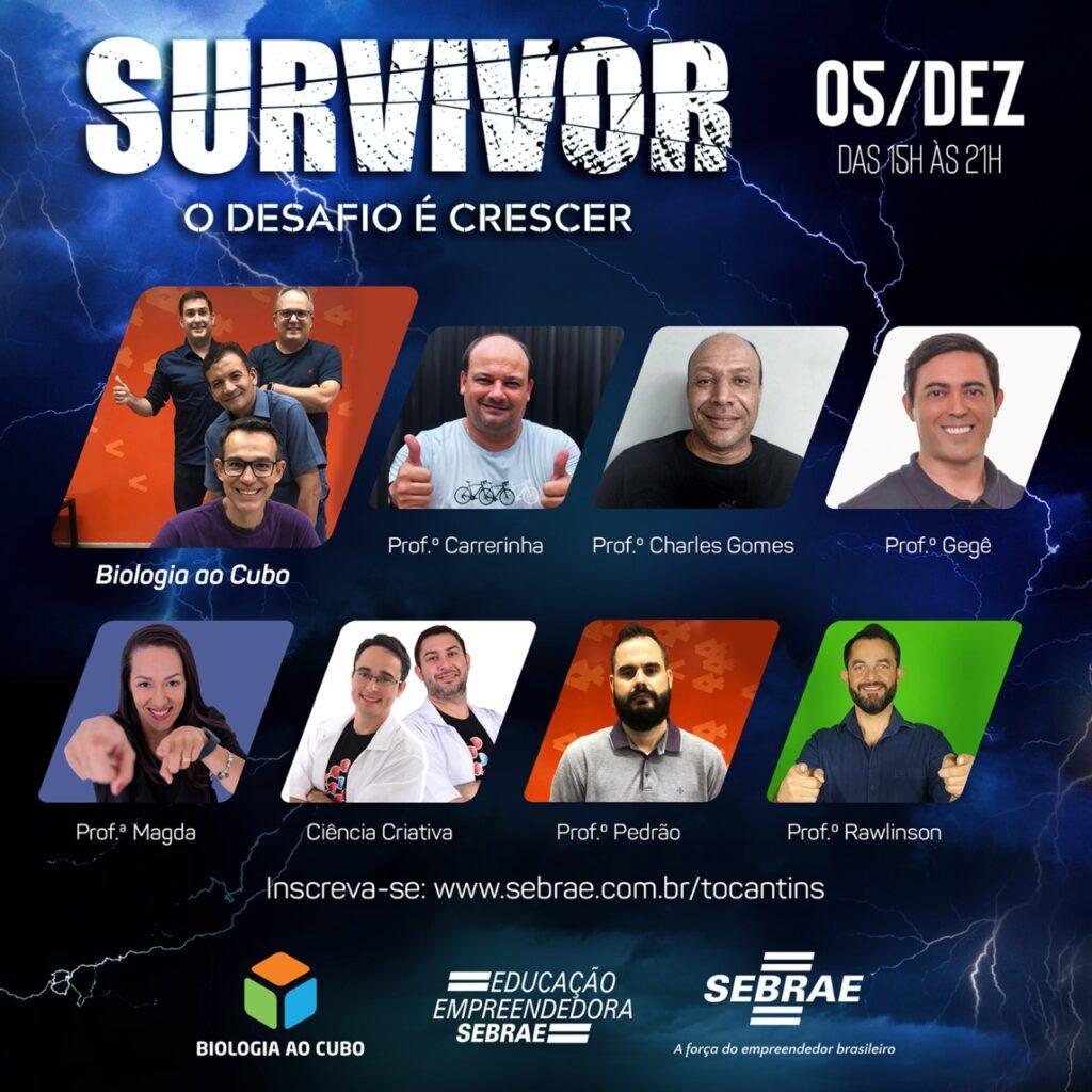 """Sebrae-Survivor-1024x1024 Neste sábado, 05, Sebrae e Biologia ao Cubo realizam o evento """"Survivor"""""""