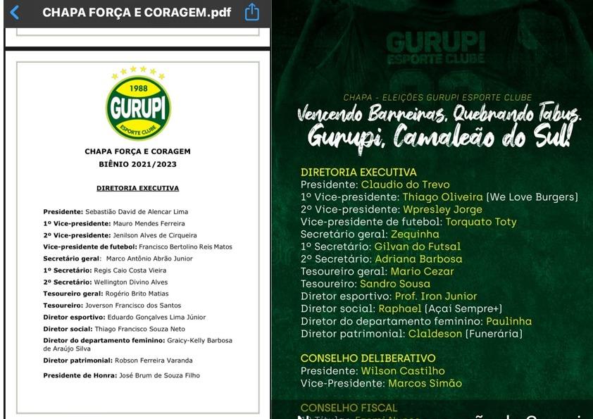 IMG-20210126-WA0000 Duas chapas concorrem para nova diretoria do Gurupi