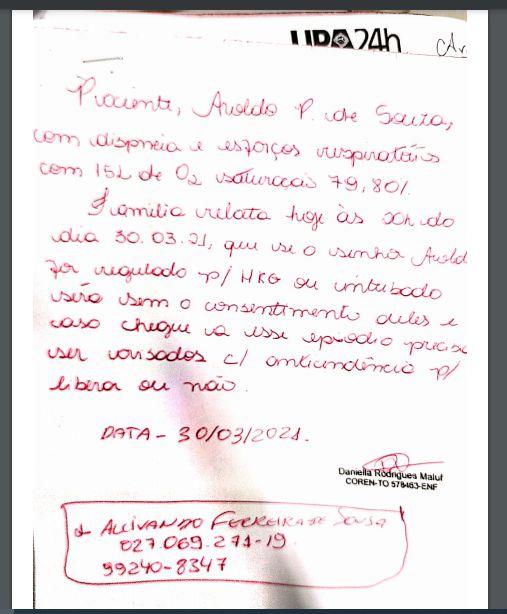 Alcivan Familiares denunciam intubação, sem consentimento, de homem morto em decorrência da Covid-19