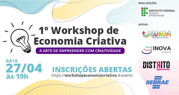 IFTO-workshop-banner-portal IFTO de Gurupi abre inscrições gratuitas para 1º Workshop de Economia Criativa