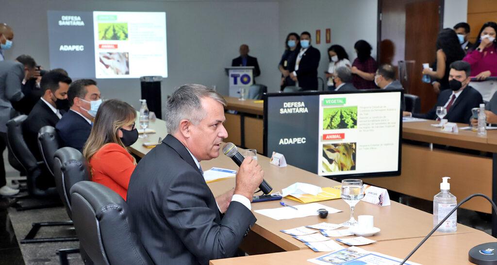 Dino-F2-Jaime-Cafe-apresentacao-foto-Tharson-Lopes-1024x546 Governadores Carlesse e Flávio Dino definem ações para integração geopolítica dos Estados do TO e do MA