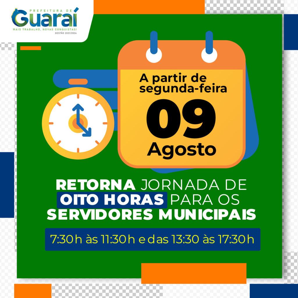 jornada-de-trabalho-1024x1024 Jornada de oito horas retorna para servidores municipais a partir desta segunda-feira (09/08) em Guaraí